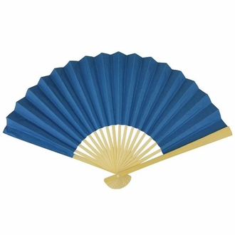 Paper Hand fan Lapis Blue