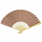 Paper Hand fan Latte Brown