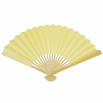 Paper Hand fan Lemonade Yellow
