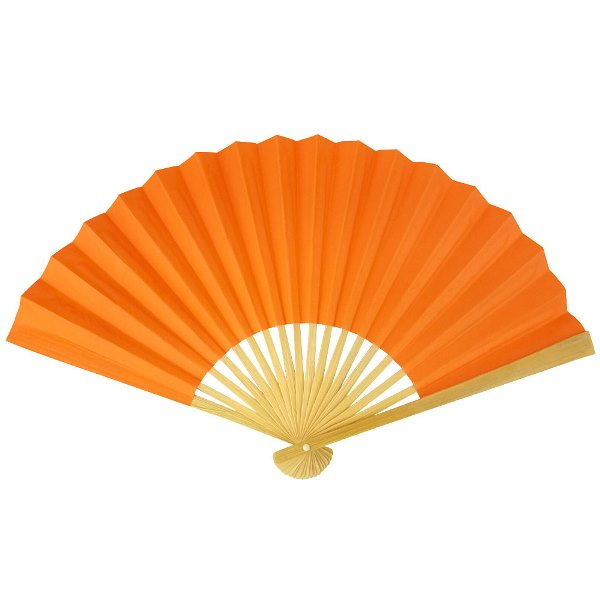 Paper Hand fan Mango Orange
