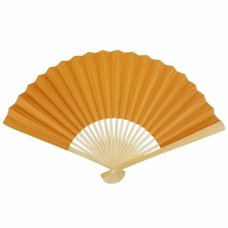 Paper Hand fan Ochre Yellow