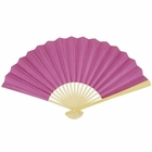Paper Hand fan Orchid Purple