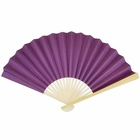 Paper Hand fan Plum Purple