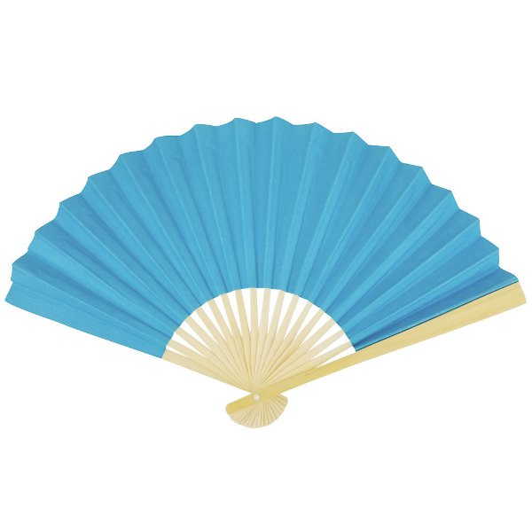 Paper Hand fan Something Blue