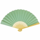 Paper Hand fan Spa Green