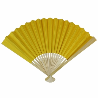 Paper Hand fan Yellow