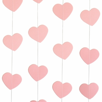 Paper Heart Garland Pink 8ft