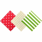 Paper Napkins 120pc Assorted �Jingle Bells Decorative Pack - Premier