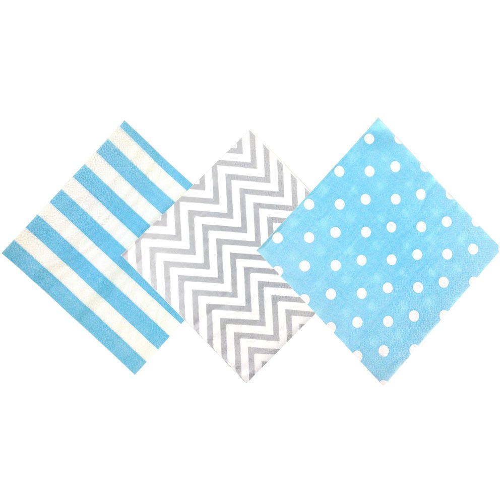 Paper Napkins Assorted Decorative Pack 120pcs Baby Shower Boy - Premier