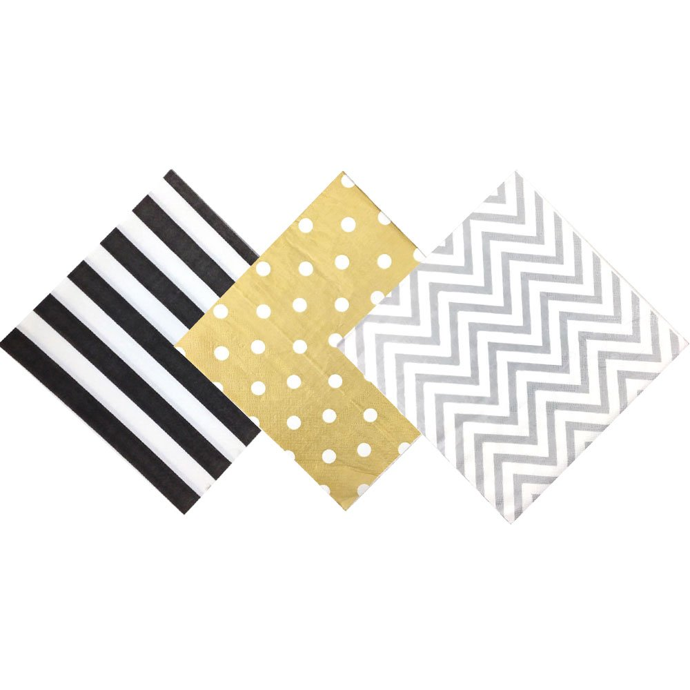 Paper Napkins Assorted Decorative Pack 120pcs Tuxedo - Premier