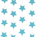 Paper Star Garland Aquamarine 8ft