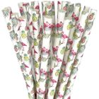 Paper Straws 25pcs Flamingo Fronds and Pineapples