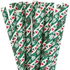 Paper Straws 25pcs Green Holiday Sweets and Treats