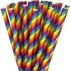 Paper Straws 25pcs Striped Rainbow Pride