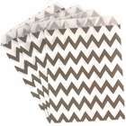 Paper Treat Bags 24pcs Medium Chevron Grey