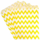 Paper Treat Bags 24pcs Medium Chevron Lemon Yellow