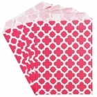 Paper Treat Bags 24pcs Medium Spanish Tile Bubblegum Pink