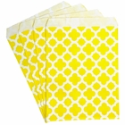 Paper Treat Bags 24pcs Medium Spanish Tile Lemon Yellow