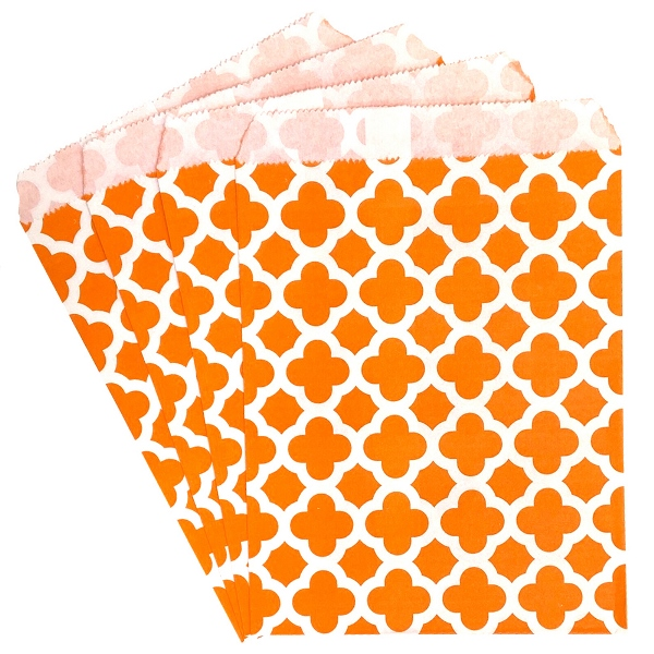 Paper Treat Bags 24pcs Medium Spanish Tile Orange