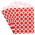 Paper Treat Bags 24pcs Medium Spanish Tile Red