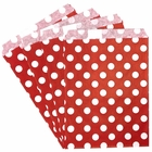 Paper Treat Bags 24pcs Medium Polka Dot Red
