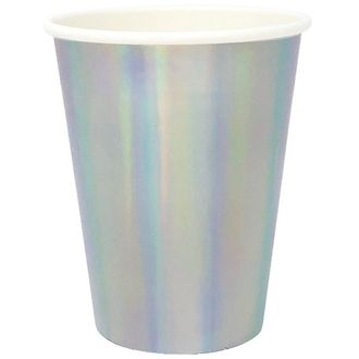 Party Paper Cup 8pcs Iridescent