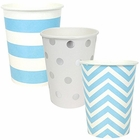 "Party Paper Cups 36pcs Assorted""Baby Boy"" Decorative Pack - Premier"
