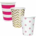 "Party Paper Cups 36pcs Assorted""Baby Girl"" Decorative Pack - Premier"