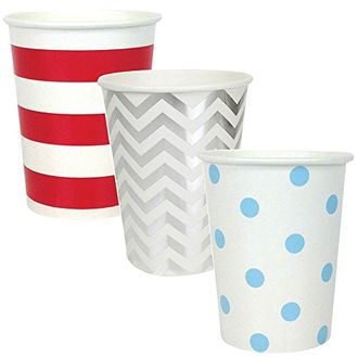 """Party Paper Cups 36pcs Assorted""""Freedom"""" Decorative Pack - Premier"""