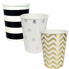 "Party Paper Cups 36pcs Assorted""Tuxedo"" Decorative Pack - Premier"