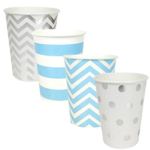 "Party Paper Cups 48pcs Assorted""Baby Boy"" Decorative Pack - Premier"