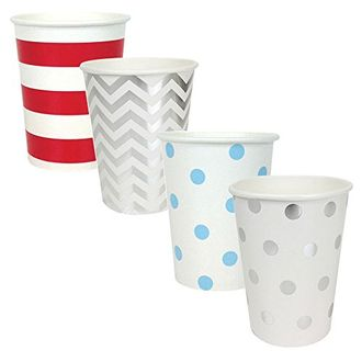 """Party Paper Cups 48pcs Assorted""""Freedom"""" Decorative Pack - Premier"""
