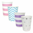 "Party Paper Cups 48pcs Assorted""Mermaid"" Decorative Pack - Premier"