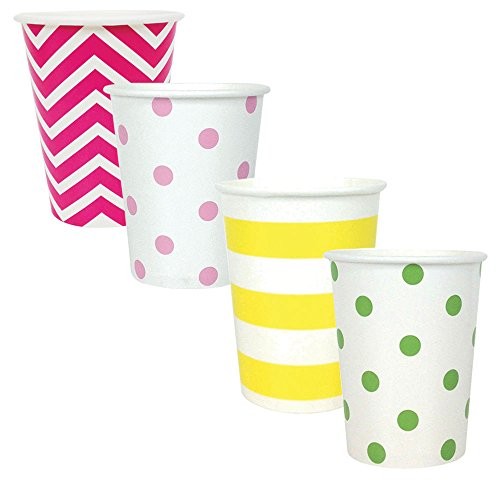 "Party Paper Cups 48pcs Assorted""Tropical"" Decorative Pack - Premier"