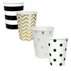 "Party Paper Cups 48pcs Assorted""Tuxedo"" Decorative Pack - Premier"