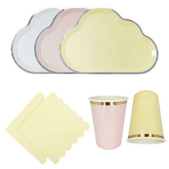 Pastel Clouds Tableware Kit 60pcs - Premier