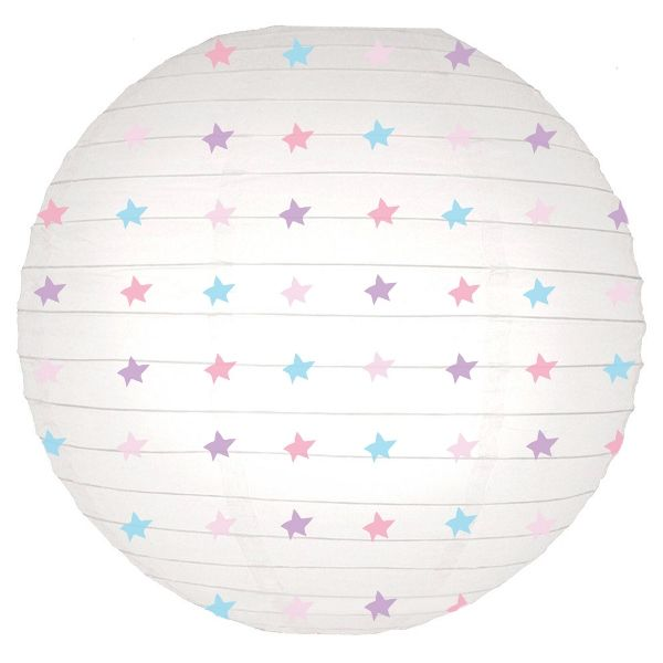 Pastel Stars Magical Pattern 12inch Paper Lanterns