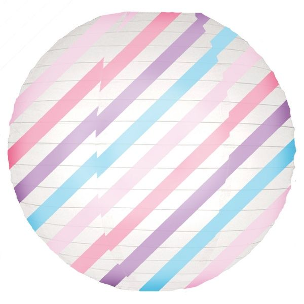 Pastel Stripes Magical Pattern 12inch Paper Lanterns
