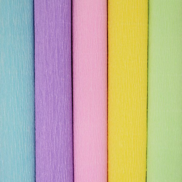Pastels Assorted Crepe Paper Roll Package 5pcs