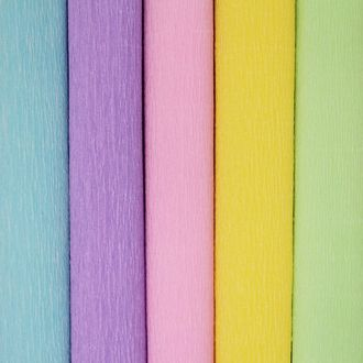 Pastels Assorted Crepe Paper Roll Package 5pcs 90g