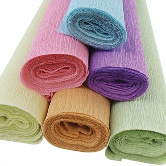 Pastels Assorted Crepe Paper Roll Package 6pcs