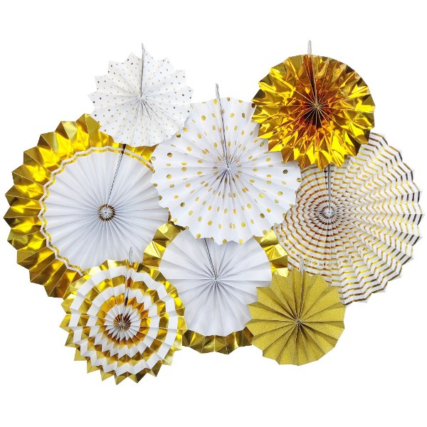 Pattern Metallic Gold Pinwheel Decorating Kit 8pcs