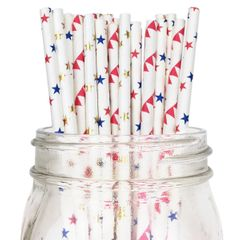 Patterned Paper Straws
