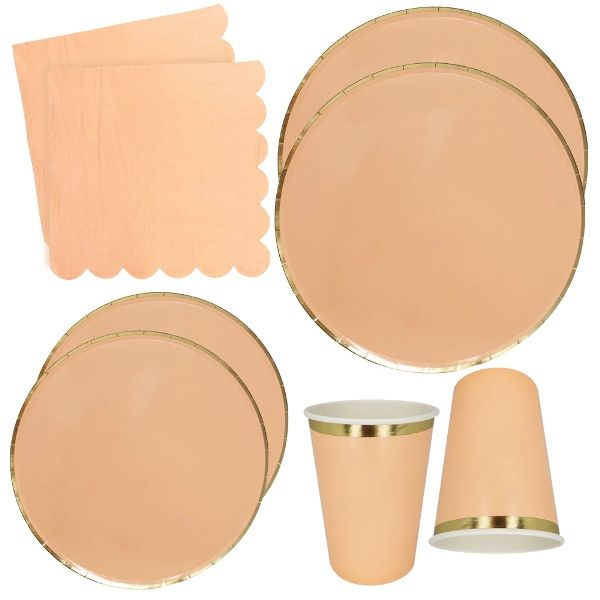 Peach Tableware Kit 44pcs - Premier