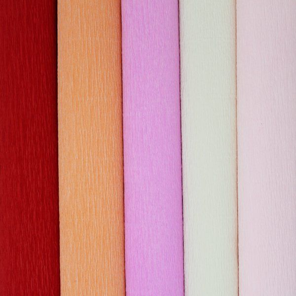 Peachy Assorted Crepe Paper Roll Package 5pcs 90g