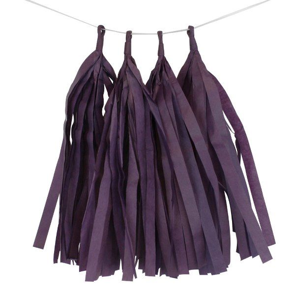 Petunia Purple Tassel Garland 4pcs