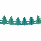 Pine Trees Expandable Tissue Paper Garland Party Streamers (6 Pack, Green) - Premier