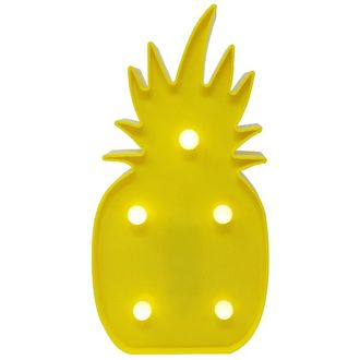 Pineapple Yellow 10in Marquee LED Battery Operated Light