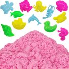 Pink 1lb Sensory Play Sand with 12 Aquatic Molds