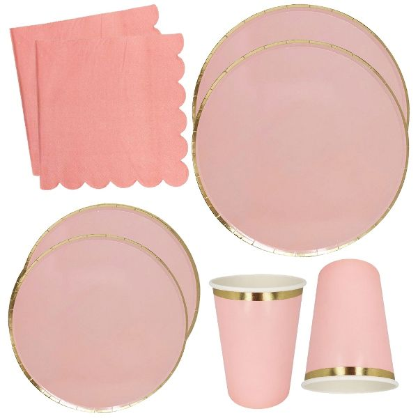 Pink Tableware Kit 44pcs - Premier